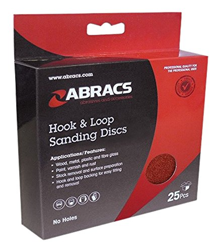 Abracs 150mm x 120g Hook and Loop Disc 25 Pieces