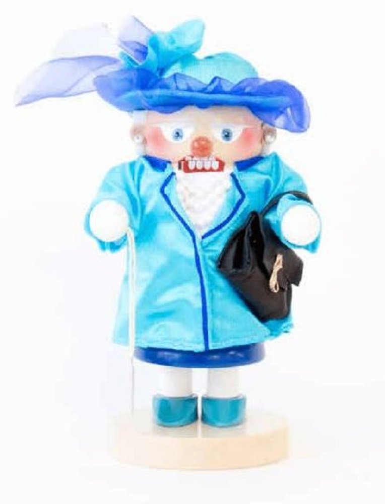 2017 Steinbach Queen of England in Blue Outfit German Wood Christmas Nutcracker