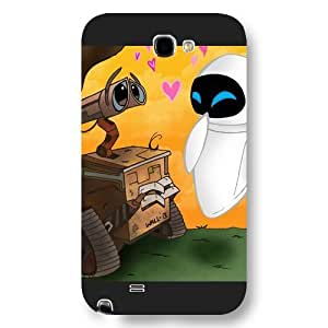 UniqueBox Customized Disney Series Phone Case for Samsung Galaxy Note 2, Lovely Cartoon Waste Allocation Load Lifters-Earth Samsung Galaxy Note 2 Case, Only Fit for Samsung Galaxy Note 2 (Black Frosted Shell) Kimberly Kurzendoerfer