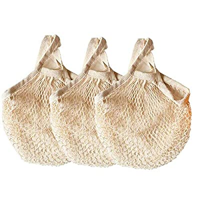 Ahyuan Ecology Reusable Grocery Bags Cotton String Bags Net Shopping Bags Mesh Bags