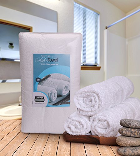 Gym Towel Racks: Salon Towel Gym Towel Hand Towel Cotton 24 Pack 16 X 27