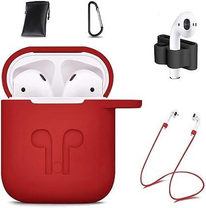 Amazon Com Airpods Case Cover 7 In 1 Airpods Accessories Silicone