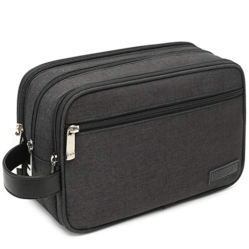 Mens Toiletry Bag Dopp Kit Travel Bathroom Bag Shaving Shower Cosmetic Organizer