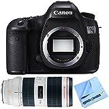 Canon EOS 5DS R 50.6MP Digital SLR Camera Zoom Lens Bundle includes camera, 70-200mm zoom lens and micro fiber cloth