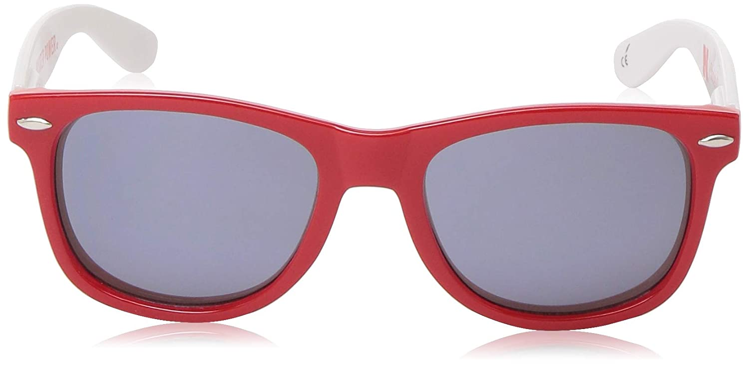 Red NCAA Nebraska Cornhuskers NEB-3 Red Front Temple One Size Silver Lens Sunglasses