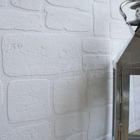 Paintableu0027 Brick Effect Wallpaper In White (Full Roll)