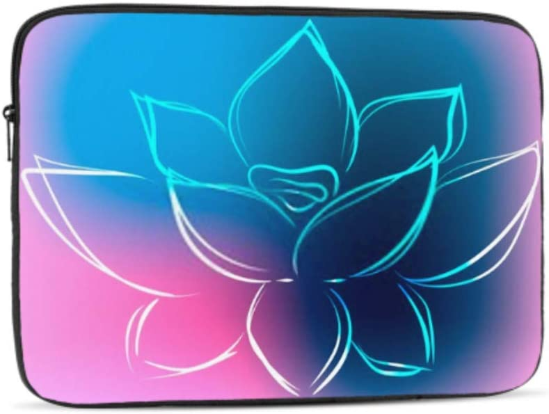 Background Outline Lotus Beautiful Colors Vector Pattern Neoprene Sleeve Pouch Case Bag for 11.6 Inch Laptop Computer Any Laptop//Notebook//ultrabook//MacBook with Display Size 11.6 Inches