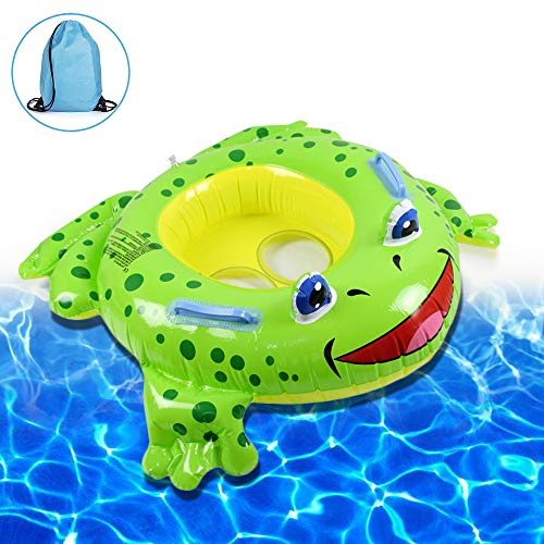 Brave Hours Frog Baby Float - Baby Pool Floating Bed Suitable for Infants and Children's wear Boys and Girls Children 3 Months - 4 Years Old 20Lbs-66Lbs Summer Outdoor Beach Water Bath Toys.
