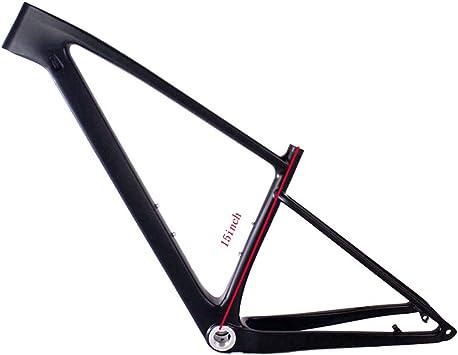 NXXML Cuadro de Fibra de Carbono de 29 Pulgadas, Cuadro de Bicicleta MTB Ultraligero de Fibra de Carbono, cableado Interno Totalmente Oculto, extinción Negra,15inch: Amazon.es: Deportes y aire libre