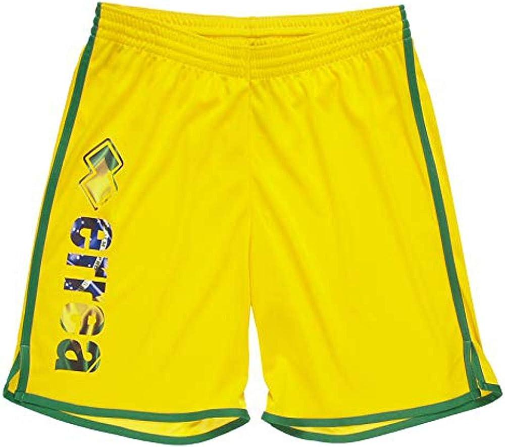 Errea Pantaloncino Uomo Elastico Flag Giallo Brasil