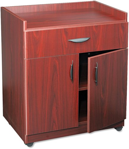 Safco Products 1852MH Deluxe Mobile Machine Stand, Mahogany (Grande Locking Media Cabinet)