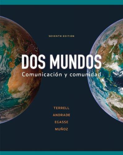 Workbook/Lab Manual Part B to accompany Dos mundos (Cuarderno De Actividades)