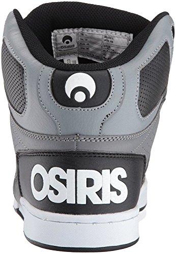 Osiris NYC 83 Nero Grigio Bianco Uomo Hi Top Pattinare Formatori Scarpe
