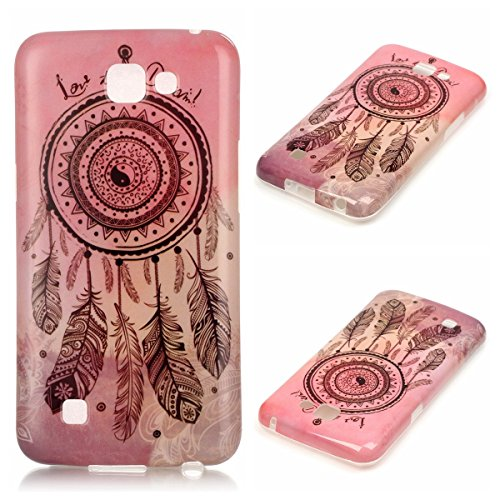 LG K4 Case, LG Optimus Zone 3 Case, Spree Case Firefish Shockproof Scratch-Resistant Ultra Slim Durable Soft Flexible TPU Gel Case for LG K4 LTE/LG Spree/LG Rebel LTE - Pink Chimes