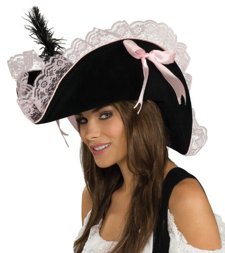 Rubie's Costume Co Pirate Hat Blk/Pink