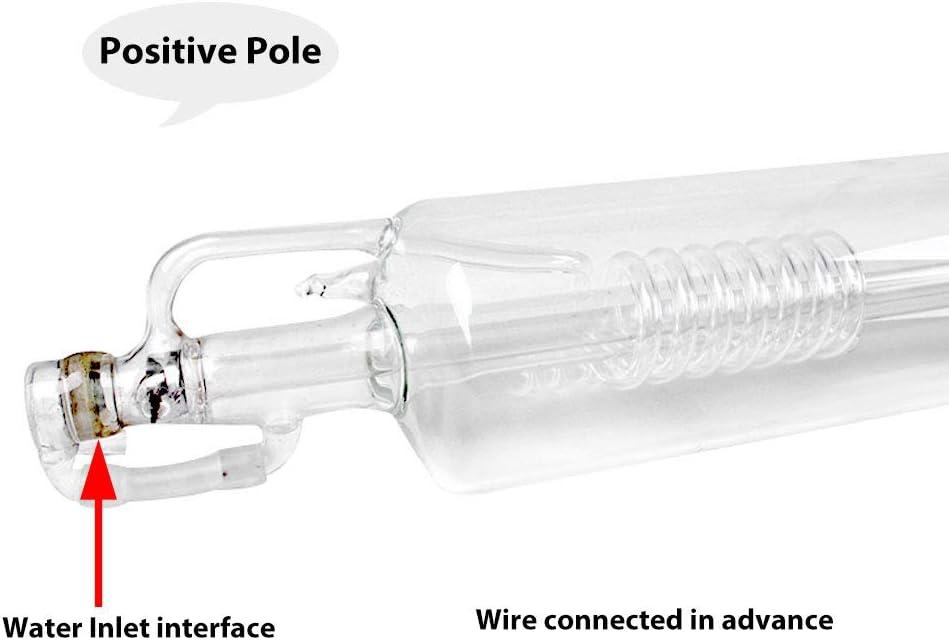 TOPQSC Tubo l/áser de vidrio de CO2 50W 800 mm de longitud di/ámetro 50 mm para corte por l/áser y m/áquina de corte por grabado 40W 70CM