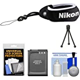 Nikon Coolpix Floating Wrist Strap with EN-EL12 Battery + Accessory Kit for S31, AW110, AW120, AW130 Digital Camera