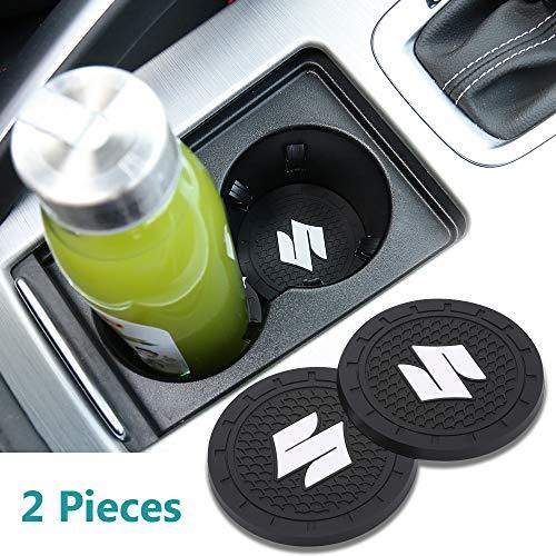 Yuanxi Electronics 2pcs 2.75 inch Car Interior Accessories Anti Slip Cup Mat for Suzuki All ()
