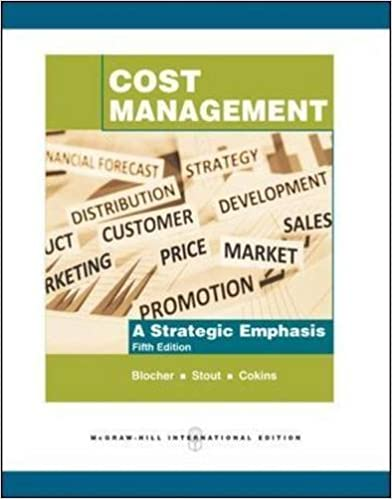 Book Cost Management: A Strategic Emphasis by Edward Blocher (2010-09-01)
