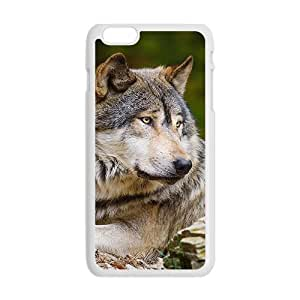 Wolf White Phone Case for iPhone plus 6 Case