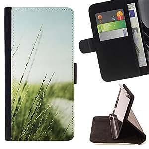 BullDog Case - FOR/HTC One M8 / - / Nature Beautiful Forrest Green 20 /- Monedero de cuero de la PU Llevar cubierta de la caja con el ID Credit Card Slots Flip funda de cuer
