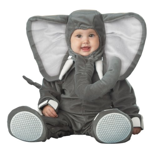 InCharacter Costumes Baby's Lil' Elephant Costume, Grey, Medium/12-18 Months -
