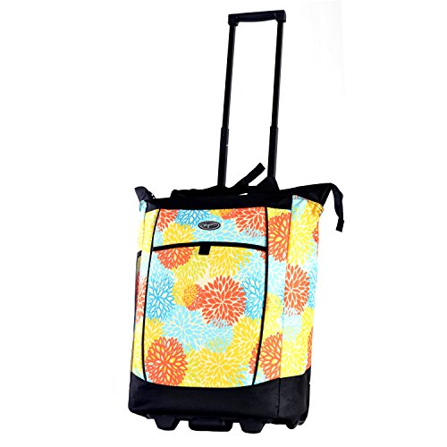 Olympia Fashion Rolling Shopper Tote, Floral (Floral Shopper)