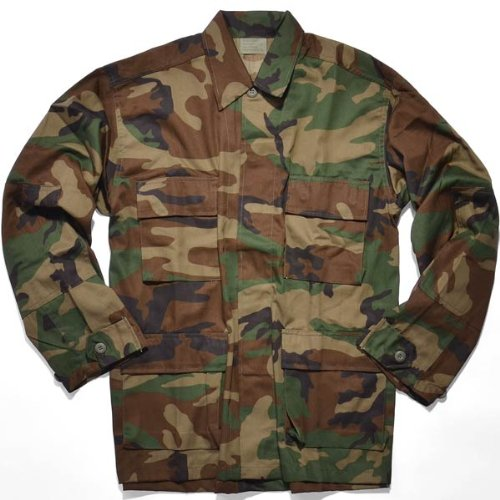 - Rothco BDU Shirt, Woodland Camo, Medium