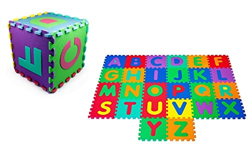 MareLight Soft Bpa-free Interlocking Foam Alphabet Floor Mat Non-toxic and tasteless 26-piece Letters Soft floor mat And Flooring Mat for Children mats - Play Mat For Kid - Alphabet Puzzle Mat 26 Piece