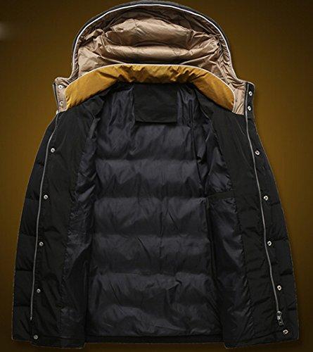Coat Hoodie Color xl Men Casual Detachable Jacket Slim with black EKU Hit SaYZgg