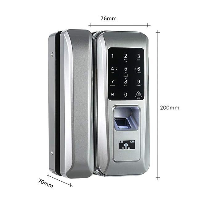 Cerradura De Huellas Dactilares Smart Glass Door Lock ...