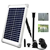 ECO-WORTHY Solar Fountain Water Pump Kit 10W Solar Panel and 160 GPH Brushless Submersible Powered Pump for Garden Decoration Solar Aerator Pump, Waterfall, Pond Aeration, Aquarium,(NO Battery Backup)