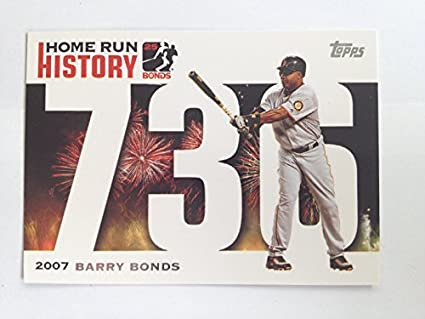 ab30b69902fdc2 2007 Topps Home Run History Home Run History 736 Barry Bonds NM M (Near