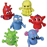 """US Toy - Dozen Assorted Color Monster Finger Puppets -1.5"""", Made Of Plastic (1-Pack of 12)"""