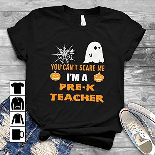 Halloween Pre-K Teacher T Shirt Long Sleeve Sweatshirt Hoodie Youth