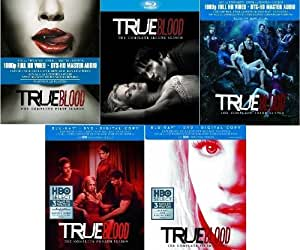 True Blood : The Complete First, Second, Third, Fourth & Fifth Seasons (Blu-ray / DVD + Digital Copy) NEW