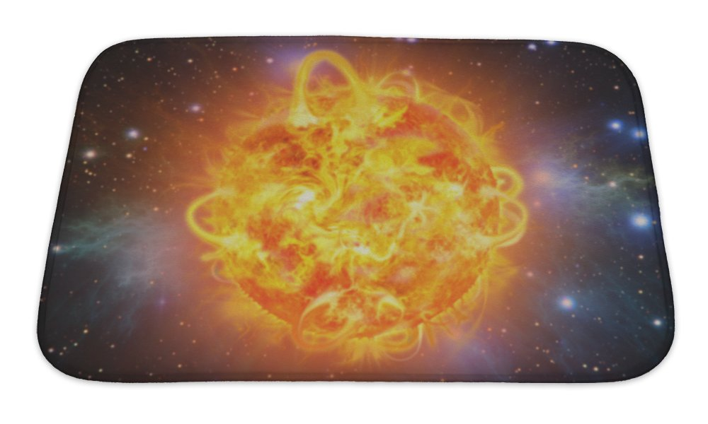 Gear New Solar Explosion Bath Rug Mat No Slip Microfiber Memory Foam