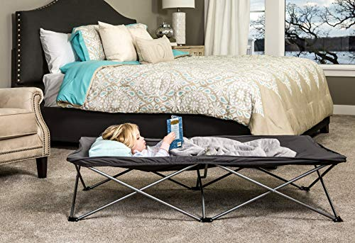 Regalo My Cot Extra Long Portable Bed, Gray, Includes Fitted Sheet and Travel Case