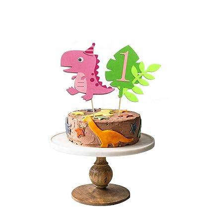 Stupendous Pink Dinosaur 1St Birthday Cake Topper T Rex Trex Cake Topper Personalised Birthday Cards Paralily Jamesorg