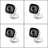 Swann SRPRO-T835BWB4-US PRO-T835 720p HD CCTV Bullet Security Surveillance Camera 4 PACK