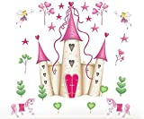 Kitchen Rugs Etsy princess Castle Kids girls' bed room decor Wall sticker wall decals mural pvc