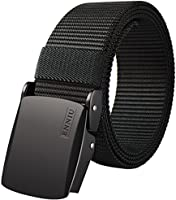 Fairwin Men's Military Tactical Web Belt, Nylon Canvas Webbing Belt for Men