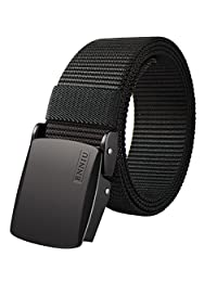 Fairwin Men's Military Tactical Web Belt, Nylon Canvas Webbing Belt for Men