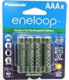 """8 Panasonic Eneloop AAA NiMH Pre-charged Rechargeable Batteries -With Battery Holder """"Limited Edition Green Color Eneloops"""""""