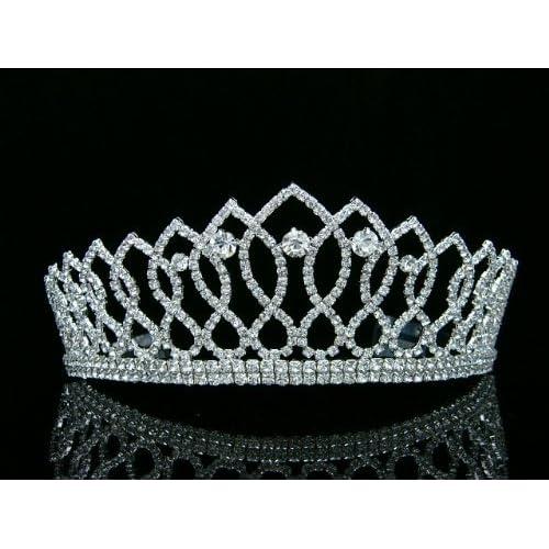 Pageant Queen Rhinestones Crystal Bridal Wedding Prom Tiara Crown