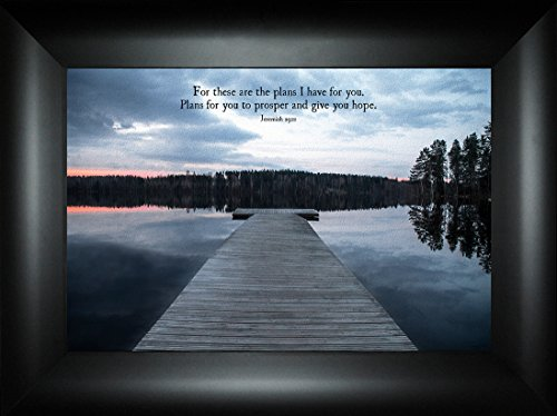 Plans By Todd Thunstedt 18x24 Inspirational Religious Bible Verse Sunset Clouds Quote Saying Jesus Testament Old New Psalm Framed Art Print Wall Décor Picture