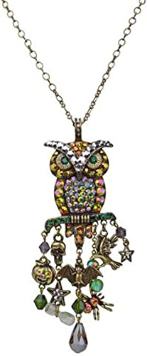 KIRKS FOLLY WARRIOR OWL LEVERBACK EARRINGS antique silvertone
