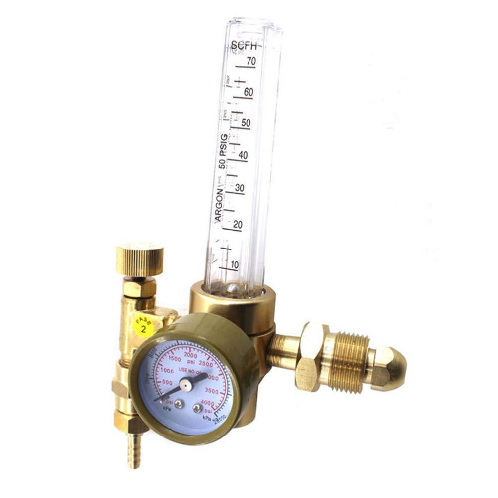 ULTECHNOVO Argon//CO2 Mig Tig Flow Meter Gas Regulator Gauge Welding Weld Flowmeter Regulator