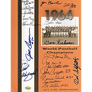1964 Cleveland Browns Hand Signed Reunion Program+coa Signed By Many+jim Brown Autographed NFL Magazines
