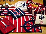 IHF New Wheel Design Table Runners / 100% Cotton Material 13'' Inch x 36'' Inch Kitchen Dining Table Runners Linen